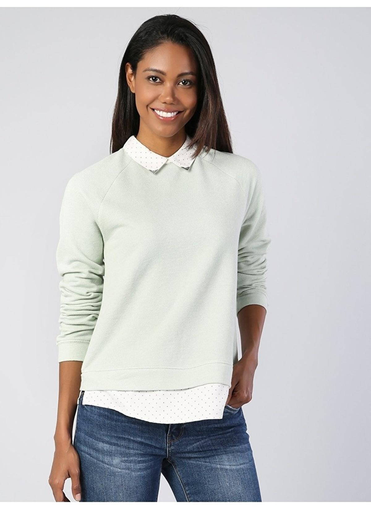 Colin's Sweatshirt Cl1041631 Yeşil Kadın Sweatshirt – 39.95 TL